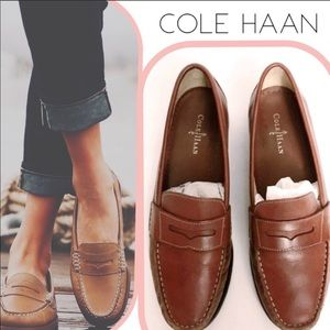 Cole Haan Penny Loafers Brown Flats (8M)